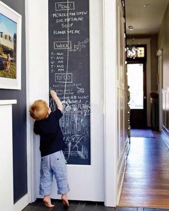 Tavle wallstickers kjøkken gutt tegner