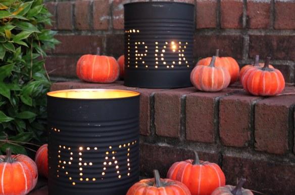 blikkbokser lys halloween diy