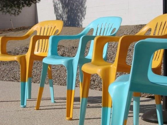 frisk opp plaststolene