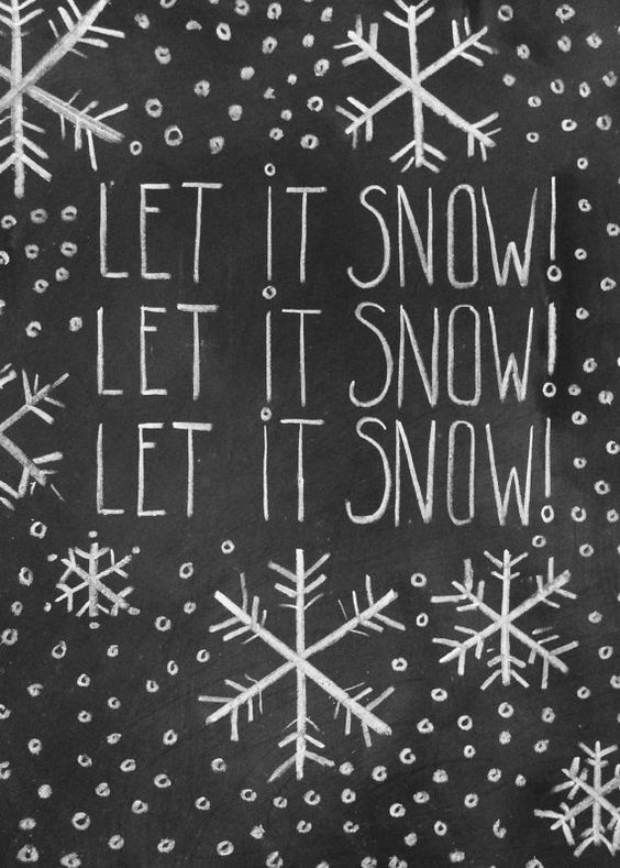 let it snow på tavle wallstickers