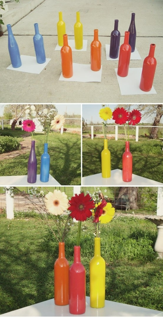 malte flasker som vaser