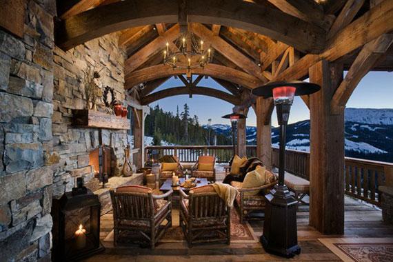 Hytte overbygget terrasse