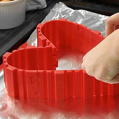 kakeform byggesett satt sammen som hjerte