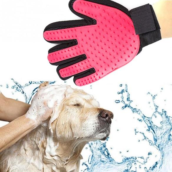 hanske til hundehår kattehår pels rosa produktbilde woweffekt