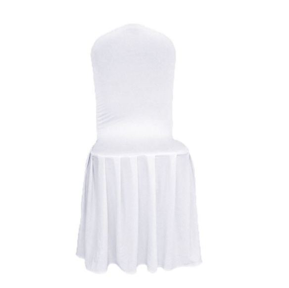 Stoltrekk med plissetskjørt hvit