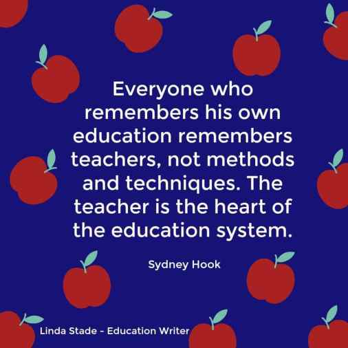 What great teachers do is change lives.
