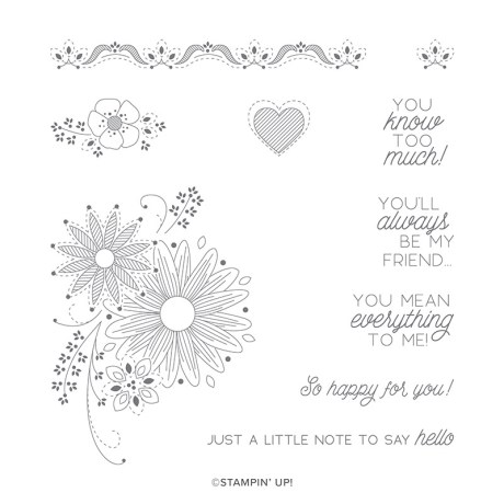 A little Lace stamp set from Stampin up