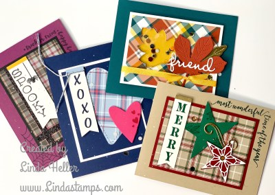 Festive Corners: 4 Card Set