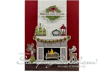 Fireside Trimmings: Living Room Scene