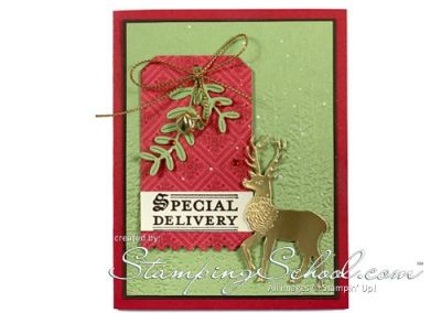Special Delivery Reindeer Card