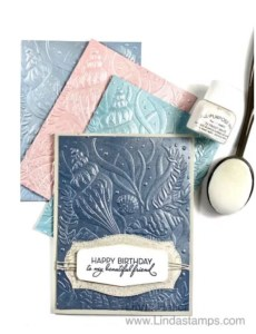 Video:  Create your own Pearlized Cardstock!
