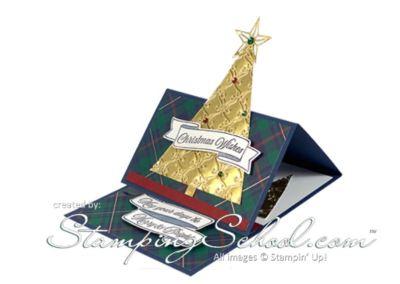 Easel Fold Card:  O Christmas Tree