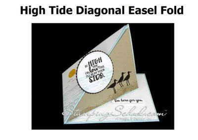 High Tide: Diagonal Easel Fold