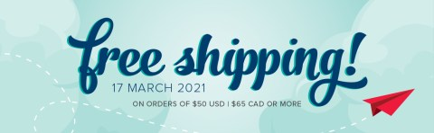 Free shipping March 17th!