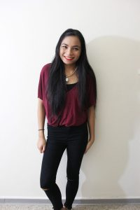 Maroon Crop Top for the Office - LINDA TENCHI TRAN