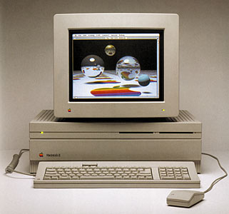 Mac ll, with keyboard, mouse and monitor