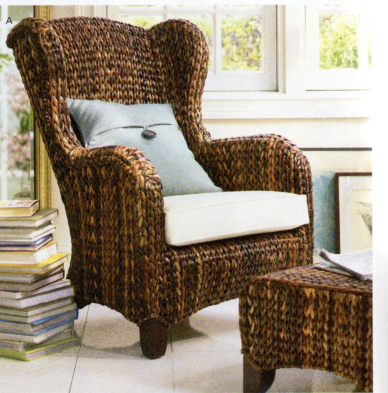 Pottery Barn Wicker Chair Pottery Barn Linda Vernon Humor
