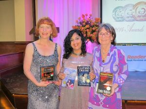 Lita Burke, Jalpa Williby and me after the award ceremony