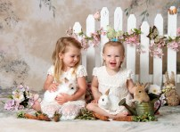 baby bunnies photo session