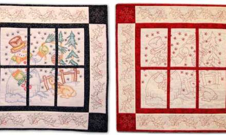 Winter Friends Colored & Quilted Wall Hanging