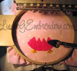 LindeeGEmbroidery-Fusing placed applique design