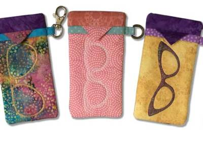 ITH Snappy Quilted Glasses Cases