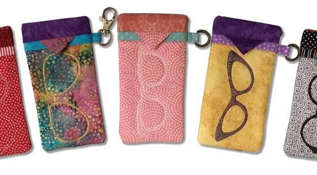 """In-the-Hoop """"Snap Bag"""" Glasses or Phone Case"""