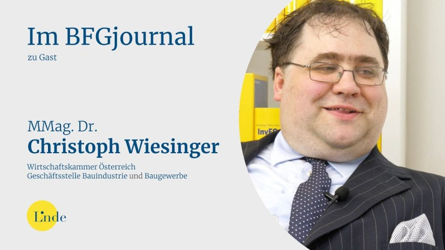 Dr. Christoph Wiesinger im BFGjournal zu Gast