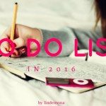 To do list in 2016