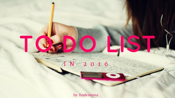 my to do list 2016 lindemona