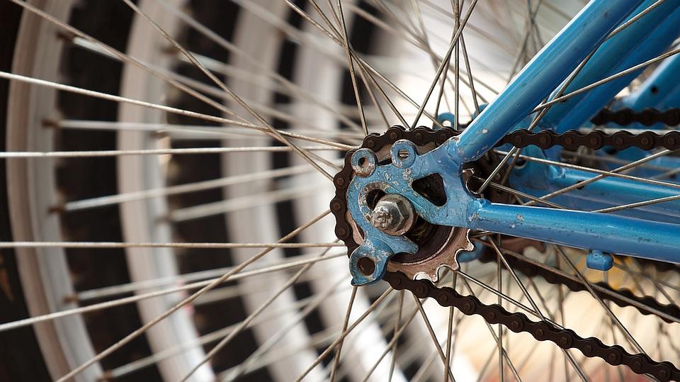 Fahrradnabe, Symbolbild für die Fahrradwerkstatt
