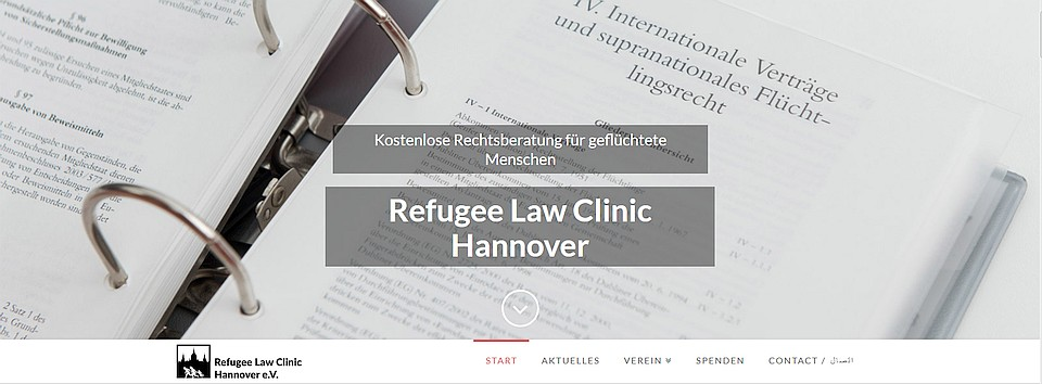 Screenshot Refugee Law Clinic Hannover e.V.