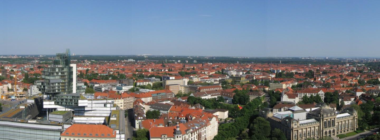 Hannover Panorama Blick nach Süd-Ost