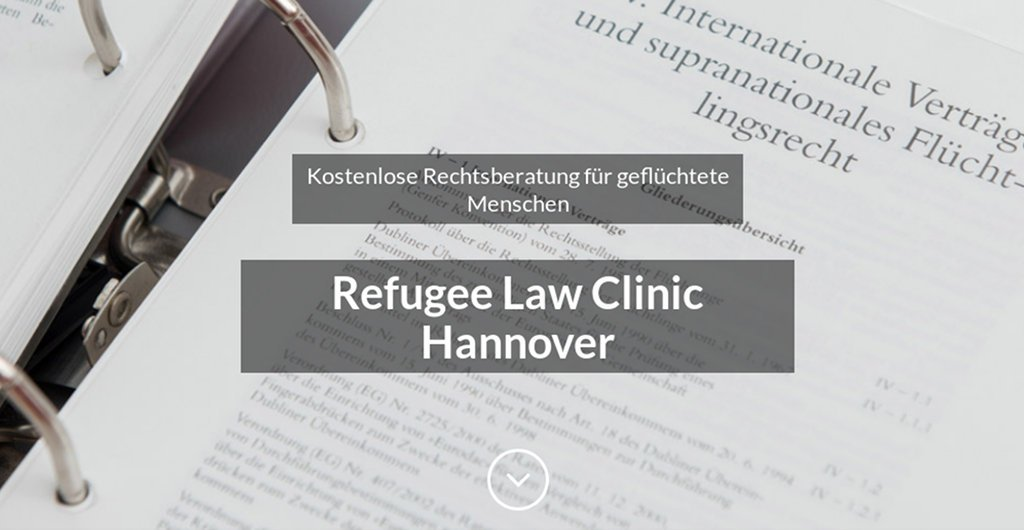Webseite Refugee Law Clinic Hannover e.V. Screenshot