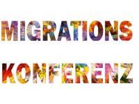 Buntes Logo Migrationskonferenz Hannover 19.10.18