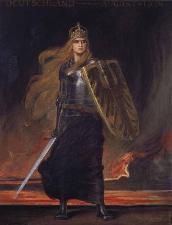 Germania, Friedrich August von Kaulbach (1850-1920)
