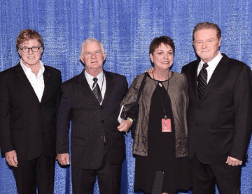 Robert Redford, Jerry and Barbara Teachey, and Don Henley (2014)