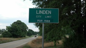 Linden City Limit Sign