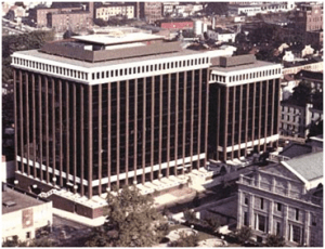 One Montgomery Plaza, Norristown, PA, including view of County Courthouse across the street