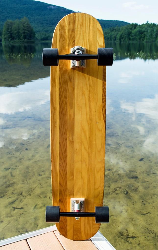 Vintage WESTERN WOOD Competion Trick Ski Longboard 5 copy