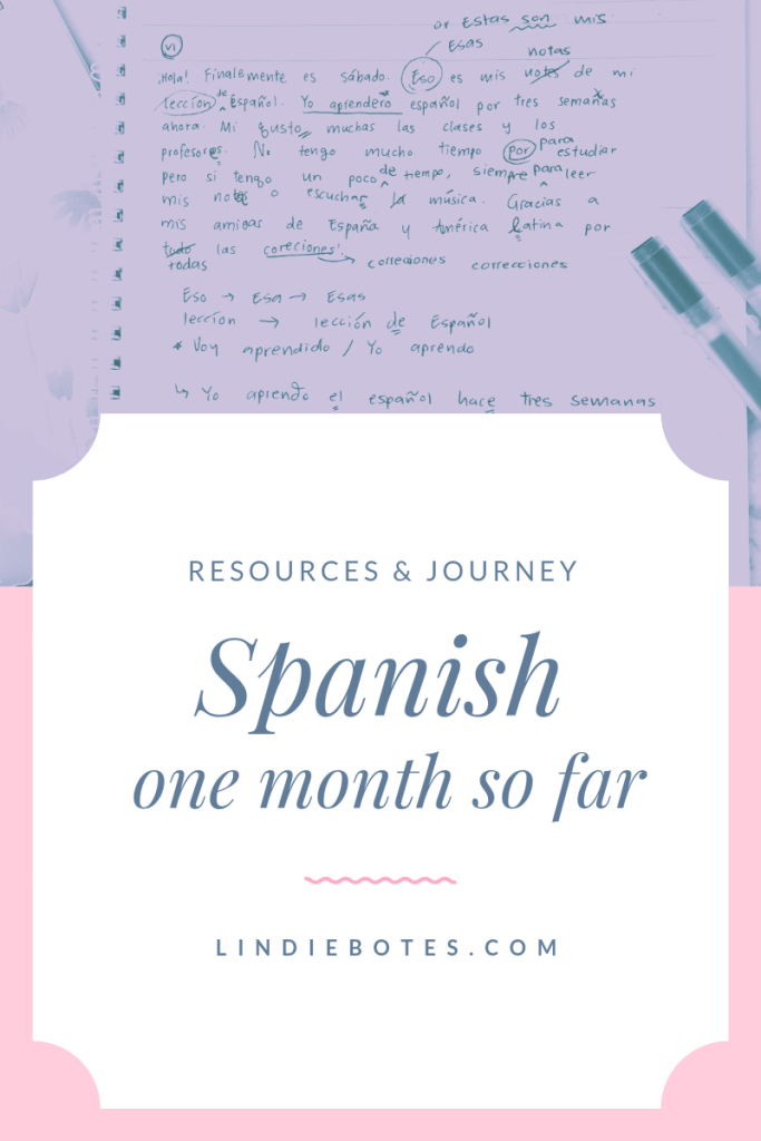 A month of Spanish: resources & journey – Lindie Botes