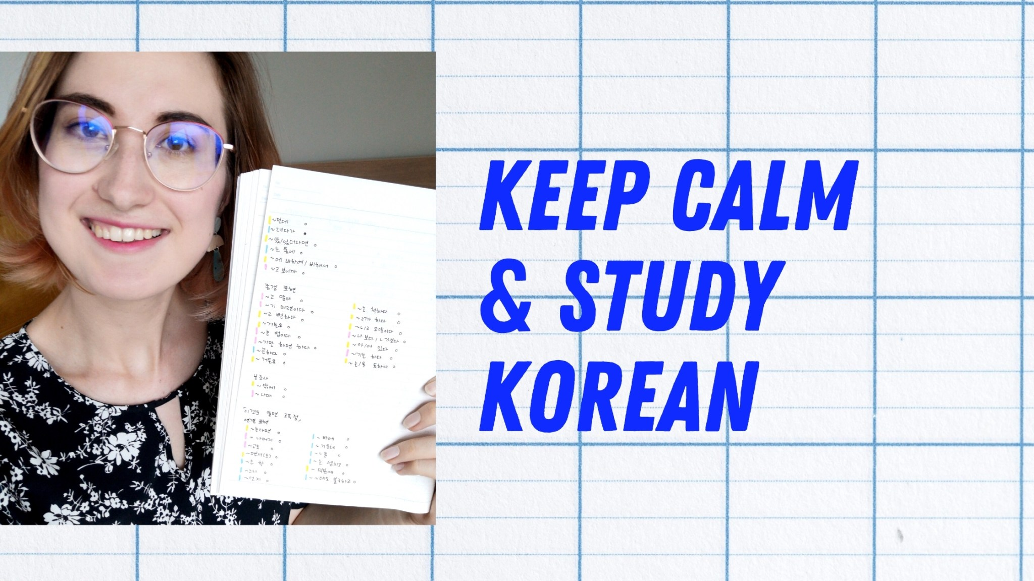 Korean grammar study method