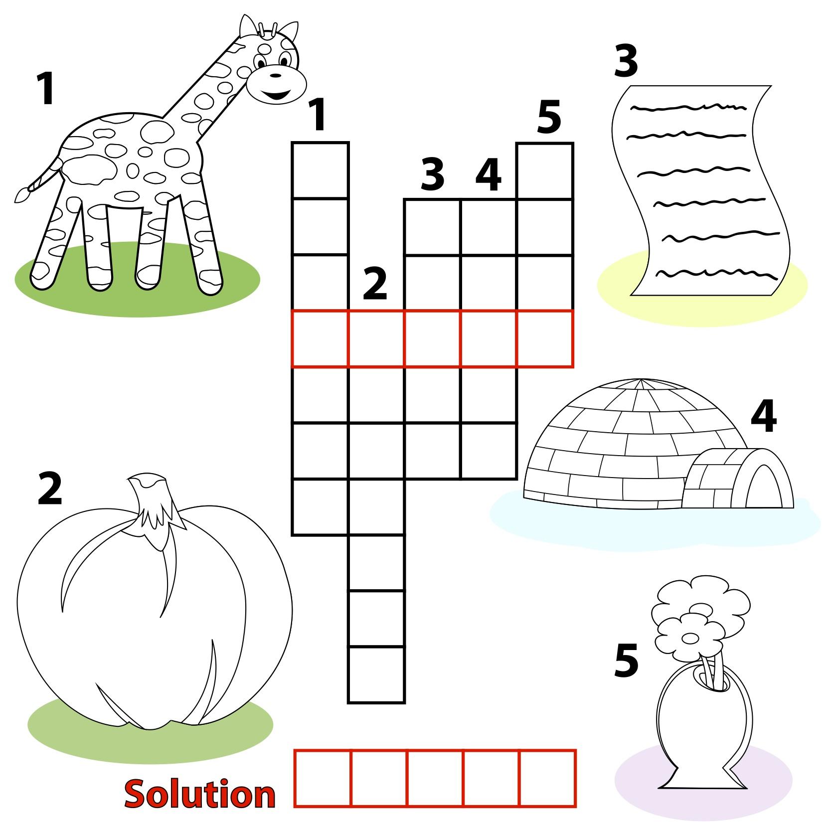 Free Printable Crossword Puzzles For Children
