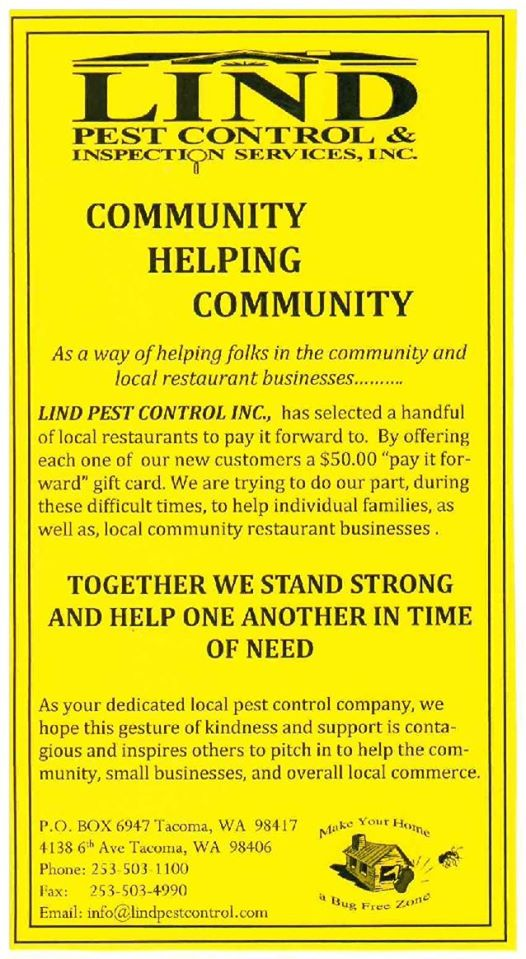 Pay It Forward flyer for our community matters program