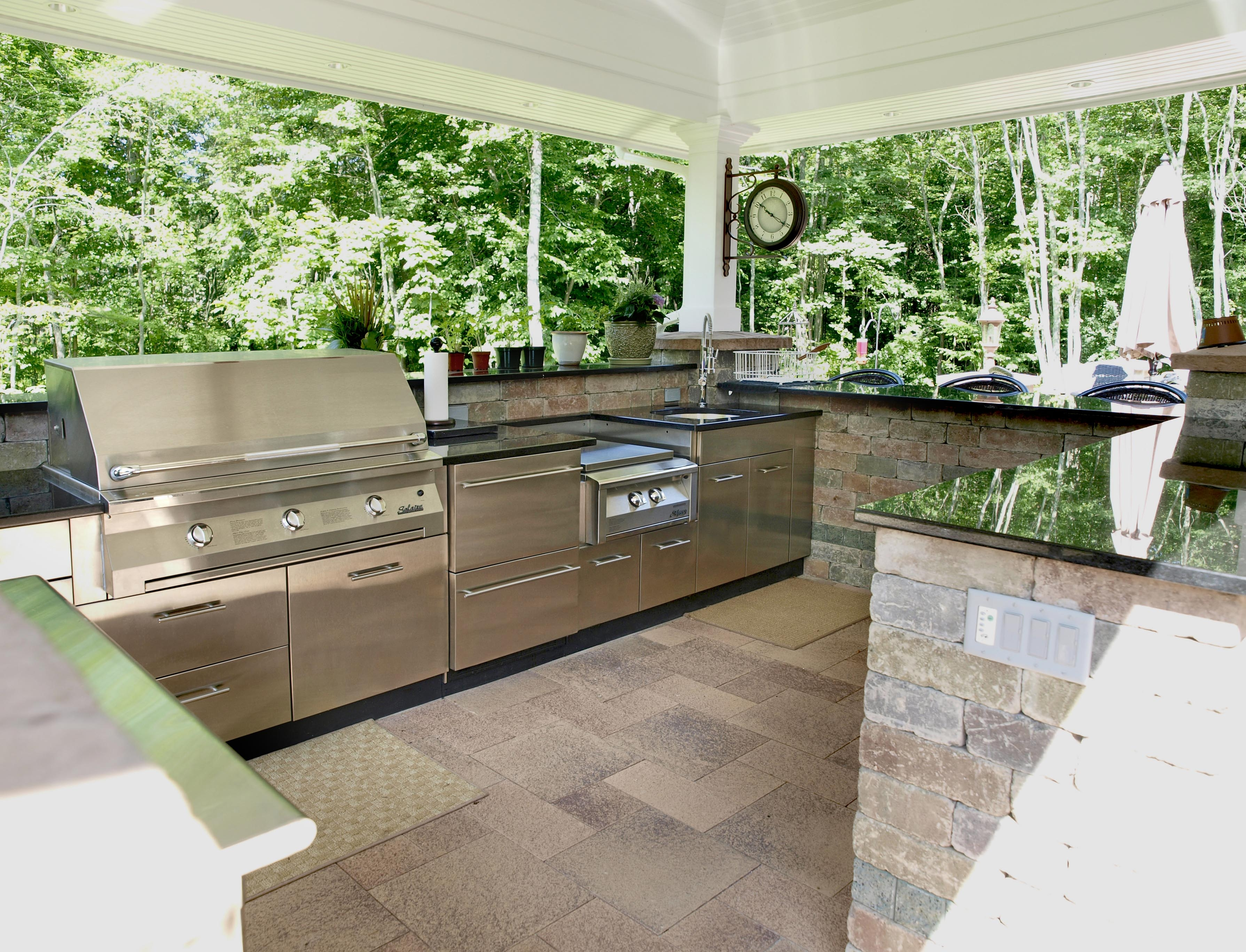 outdoor kitchen layout mats kitchens  the ultimate garden party