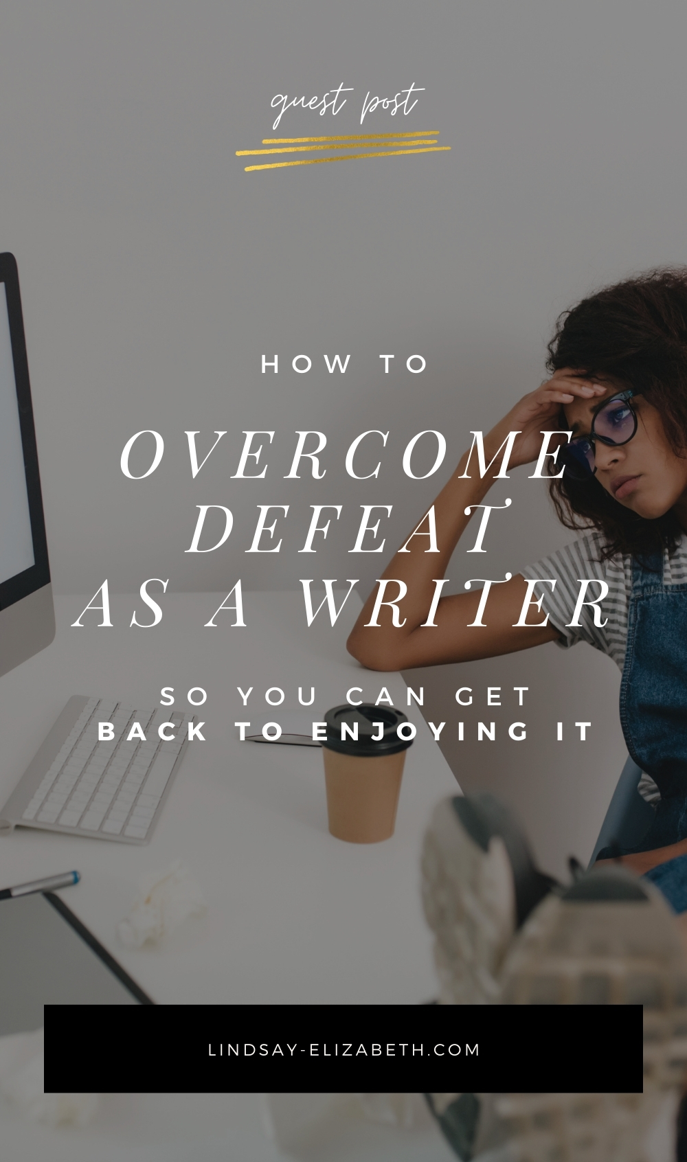 Feeling defeated on your writing journey? You're not alone — it's a totally common experience among writers. In this guest post, Ashton Mathai shares her tips on how to overcome defeat as a writer so you don't get stuck going in circles and can get back to enjoying the process of writing a book. | writing tips / writing advice / authors / writing fiction / creative writing / book writing
