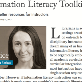 Screenshot of Information Literacy Toolkit Article