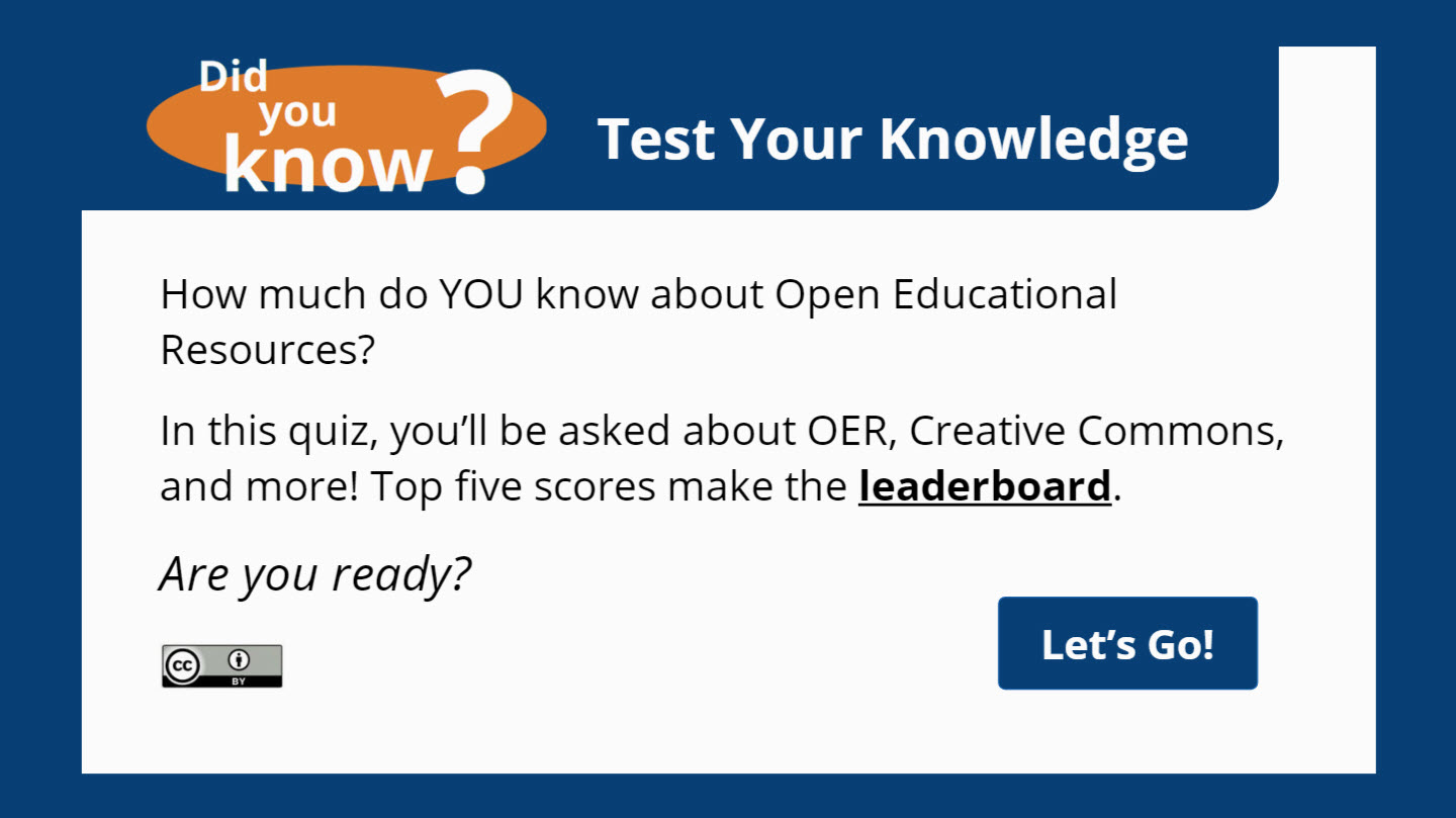 Did you KNOW? Quiz with a Leaderboard