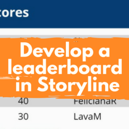 develop a leaderboard in storyline