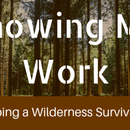 Showing My Work Developing a Wilderness Survival Game